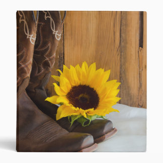 Country Sunflower Western Wedding Binder