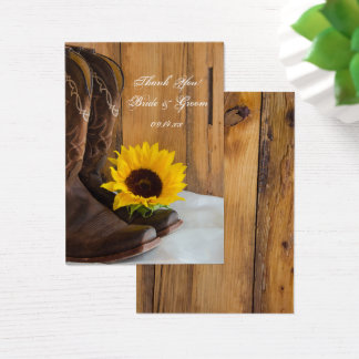 Country Sunflower Western Wedding Favor Tags