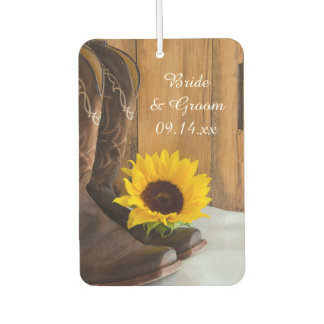 Country Sunflower Western Wedding Favors Air Freshener