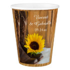 Country Sunflower Western Wedding Paper Cup