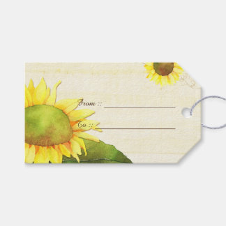 Country Sunflowers Wedding Gift Tags