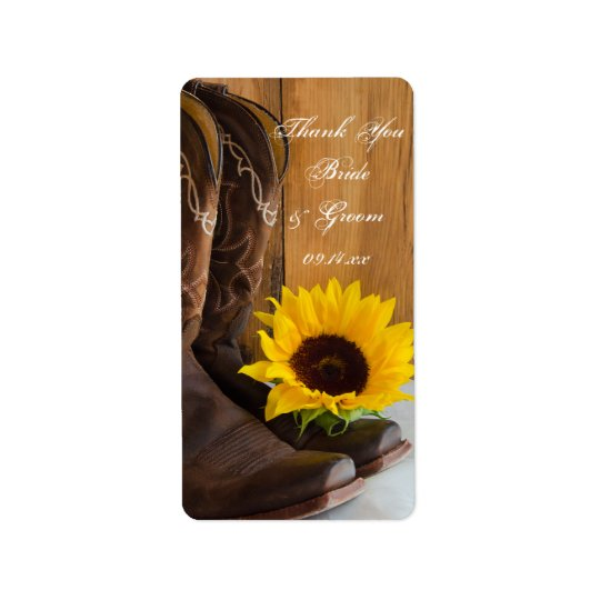 Country Sunflowers Wedding Thank You Favour Tags