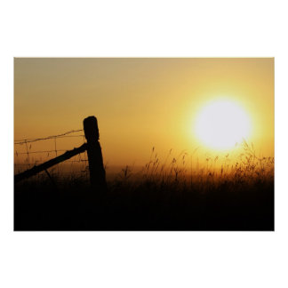 Country Sunrise Poster
