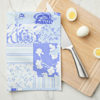 Country Sweet Cornflower Blue Kitchen Towel
