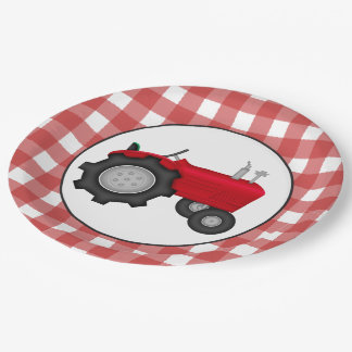 Country Tractor party paper plates