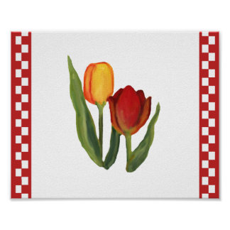 Country Tulips Print