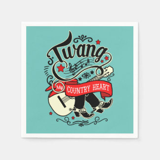 Country Twang Red/Black ID464 Disposable Napkin