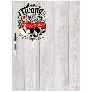 Country Twang Red/Black ID464 Dry Erase Board