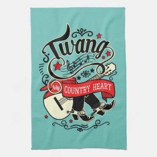 Country Twang Red/Black ID464 Kitchen Towel