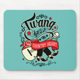 Country Twang Red/Black ID464 Mouse Pad