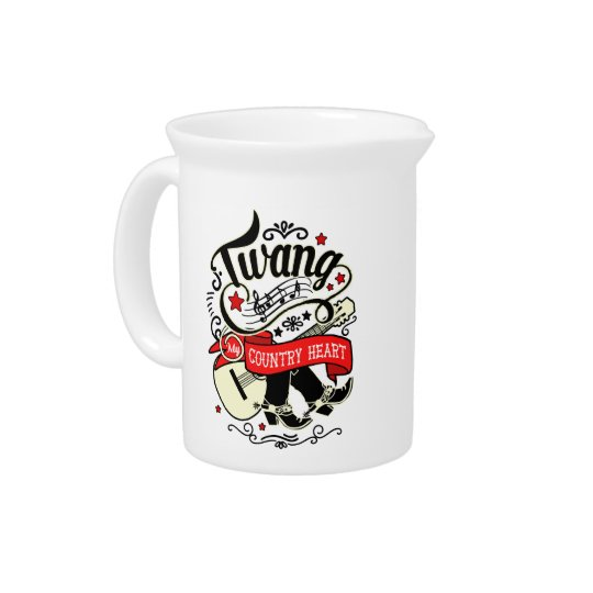 Country Twang Red/Black ID464 Pitcher