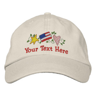 Country USA - Customize Embroidered Hat