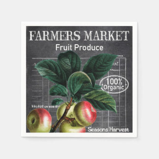 Country Vintage Farmers Market party napkins