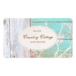 Country Vintage Shabby Rustic Wood Chic Boutique Pack Of Standard Business Cards