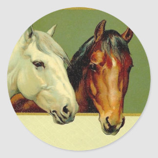 Country Vintage Show Horses Stickers