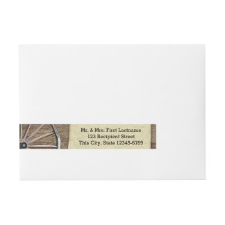 Country Wagon Wheel Wraparound Address Label