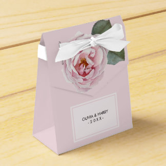 Country Watercolor Rose Wedding Favor Box