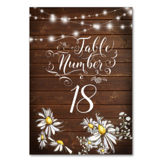 Country Wedding Barnwood Daisies BarefootBride™ Card