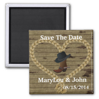 Country  WEDDING Save The DATE Magnet