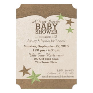 Country Western Baby Shower Cards