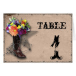 Country Western Barbed Wire Table Number Note Card