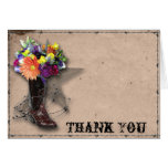 Country Western Barbed Wire Thank You Note Card