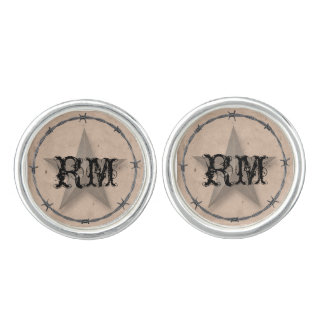 Country Western Barbed Wire Wedding Cuff Links