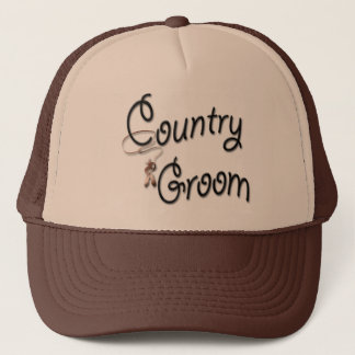Country Western Groom Trucker Hat