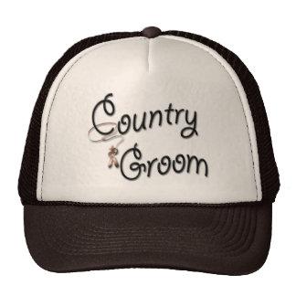 Country Western Groom Trucker Hat