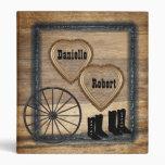 Country Western Rustic Wagon Wheel Wedding Album Binders