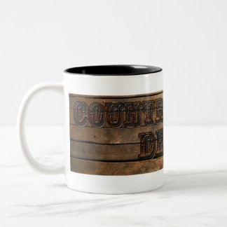 Country Western Two Toned Coffee Cup