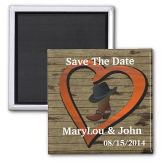 Country Western WEDDING Save The DATE Magnet