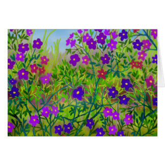 Country Wildflowers Card