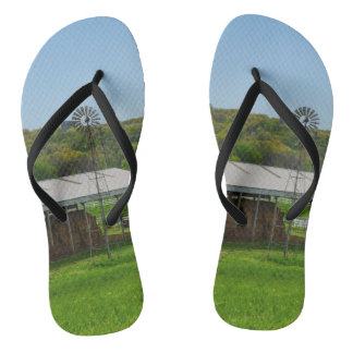 Country Windmill Flip Flops