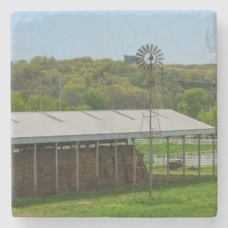 Country Windmill Stone Coaster