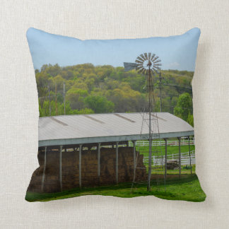 Country Windmill Throw Pillow