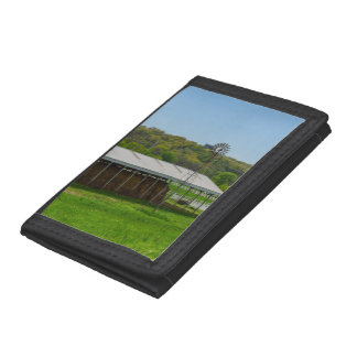 Country Windmill Tri-fold Wallets