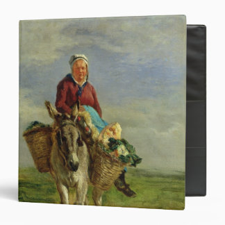 Country Woman Riding a Donkey Binders