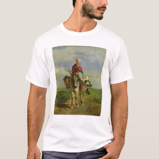 Country Woman Riding a Donkey T-Shirt