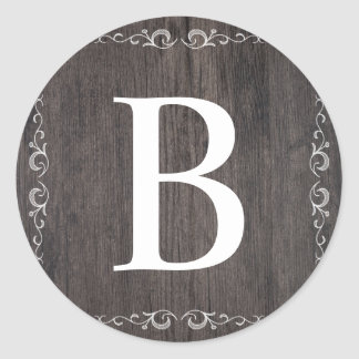 Country Wood  Monogram sticker