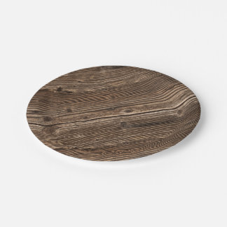 Country Wood Pattern Paper Plate