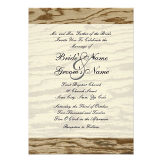Country Wood Wedding Invitation