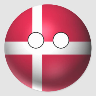 Countryball Denmark - Neutral Expression Classic Round Sticker