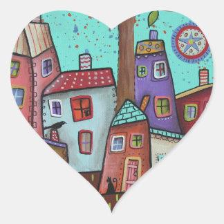 CountryNeighbors Heart Sticker