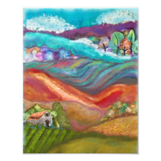 Countryside Collage Artwork Photo Print