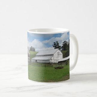 Countryside old white barn Mug