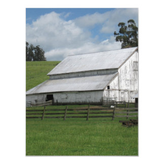 Countryside old white barn Thin Magnetic Card