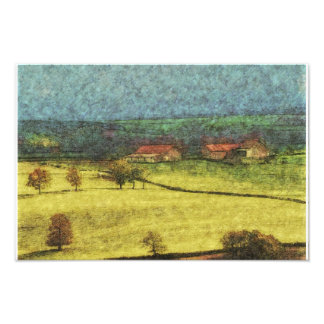 countryside prairie pastel style painting photograph