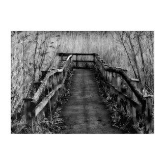 Countryside walk path acrylic wall art