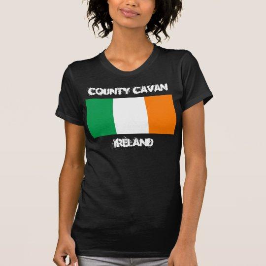 County Cavan, Ireland with Irish flag T-Shirt